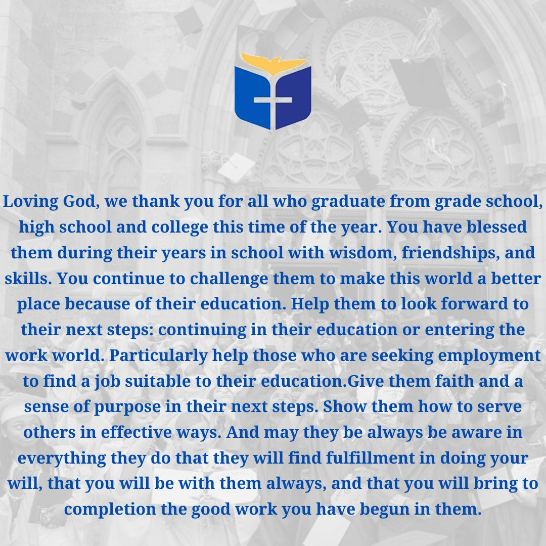 A prayer for Catholic school graduates